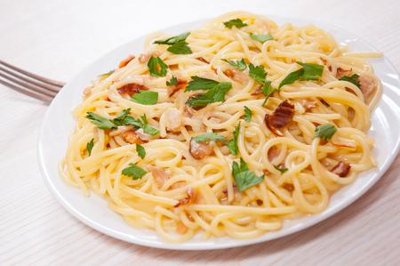 fish sauce: spaghetti with fish sauce