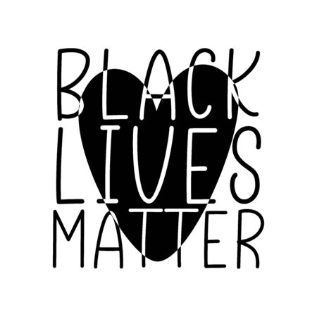 BLACK LIVES MATTER. Protest slogan, anti-racist. Vector brush lettering typography text - black lives matter on a white background.