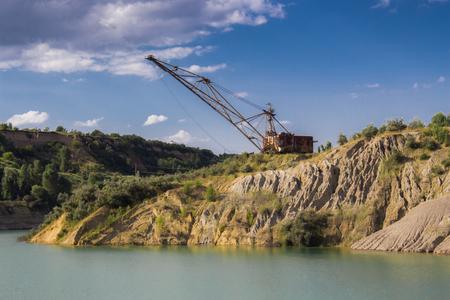 Old coal mine in Ukraine
