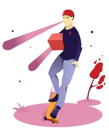 People send packages, Character delivery vector