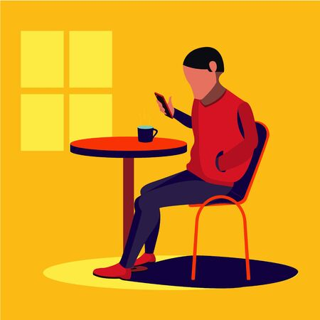 People With Phone Vector