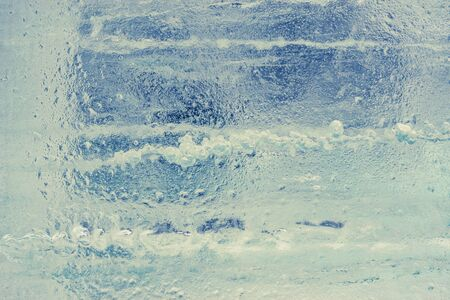 Awesome light blue ice background. Background with empty space fot text or image.