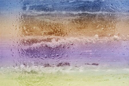 Awesome colorful ice background. Background with empty space fot text or image. Фото со стока - 137187490