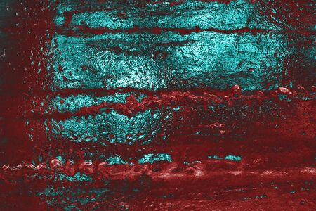 Awesome red and cyan ice background. Background with empty space fot text or image. Фото со стока