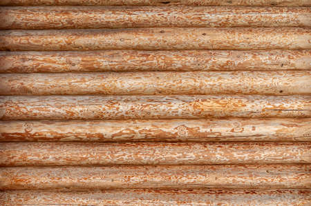 the texture of the log house wall. abstract background Stock Photo