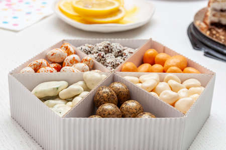 nuts in sweet glaze. High quality photo Фото со стока