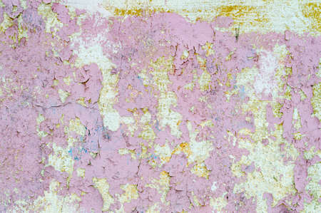 abstract background with peeling pink paint. High quality photo