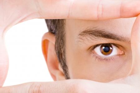 globo ocular: Close-up shot de joven