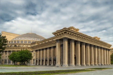 novosibirsk: Novosibirsk academic opera theatre - the largest theatre building in Russia Stock Photo