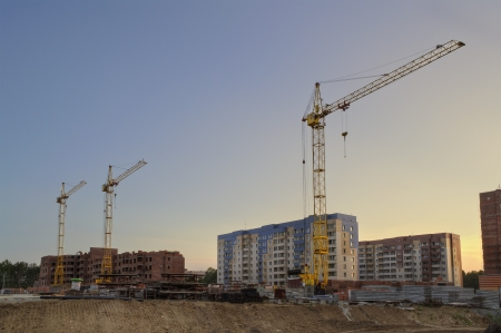 novosibirsk: The construction of new apartment houses  Russia, Novosibirsk region  Stock Photo