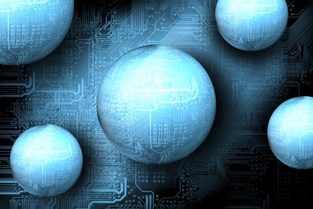 Microchip background - abstract technology concept