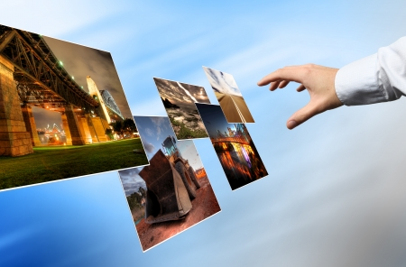 product development: World cloud technology, Background concept Stock Photo