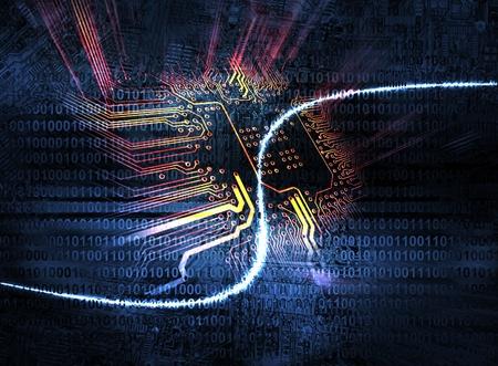 Fondo de Microchip - concepto de tecnología