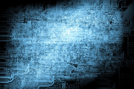 circuitry: Microchip background - technology concept Stock Photo