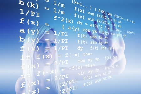 Mathematics formula Stock Photo