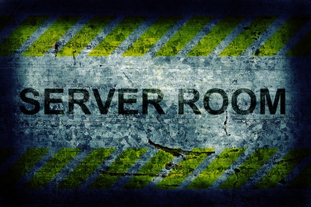 Server room grunge background photo