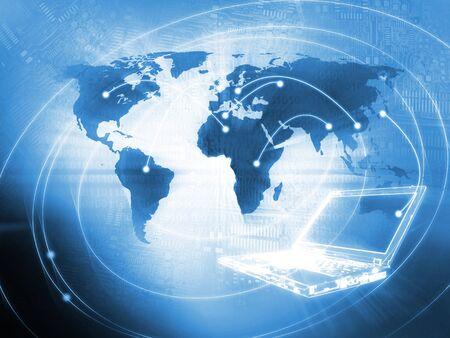 binary background: Laptop technology background