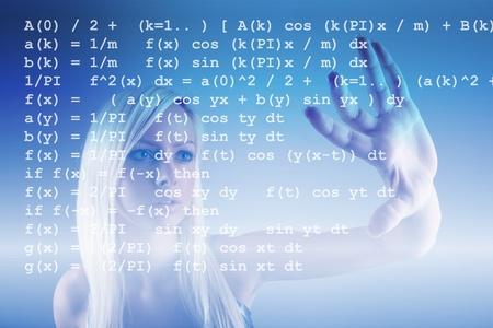 mathematical symbol: Formula matematica Archivio Fotografico