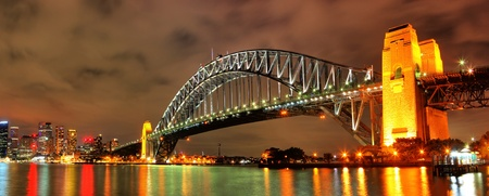 sydney harbour bridge: Sydney Harbour with Opera House and Bridge