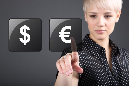 Commodity trading - currency trading dollar euro concept Stock Photo