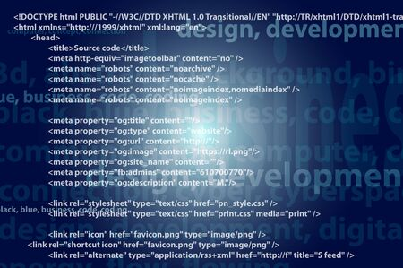Source code technology background, editable vector photo