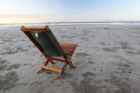 Beach wooden chair - isolated concept, Australia Stock Photo - 13173512