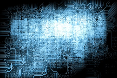 Microchip background - technology concept photo