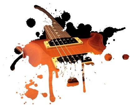 Chitarra elettrica spruzzi Archivio Fotografico - 13459313