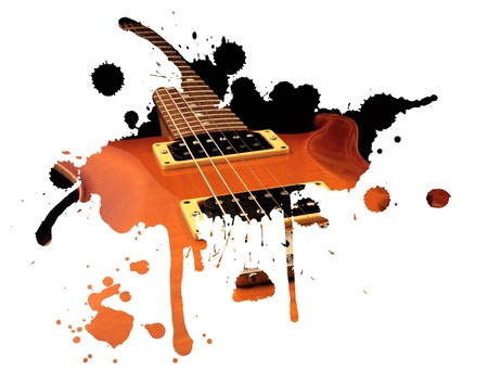 guitar: Electric guitar splash