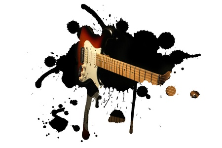 Electric guitar splash photo