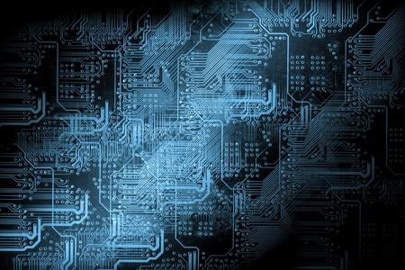 Microchip fond - concept de la technologie Banque d'images - 13459353