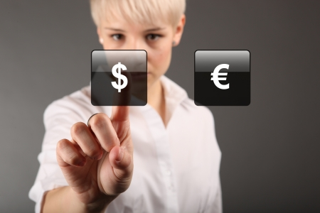 Commodity trading - currency trading dollar euro concept photo
