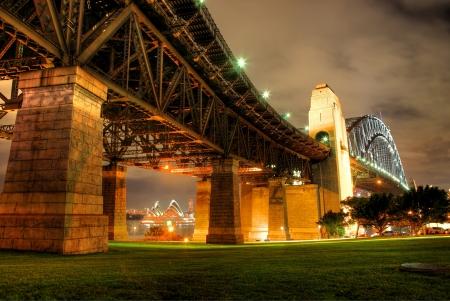 Sydney Harbour with Opera House and Bridge photo
