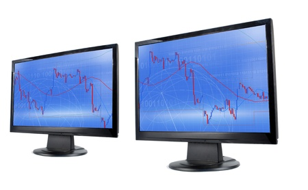 candlestick: Commodity trading Stock Photo