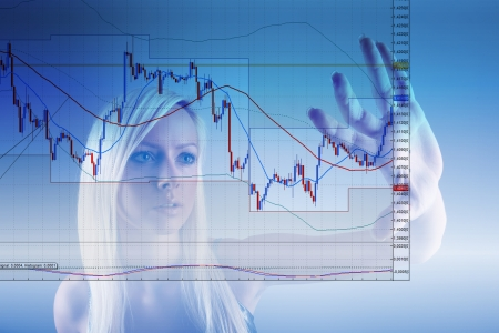 stock trading: Commodity trading Stock Photo