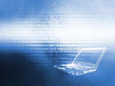 codigo binario: Port�til de fondo la tecnolog�a