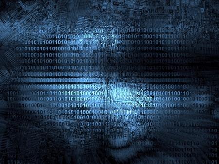 Fond la technologie de code source Banque d'images - 14786814