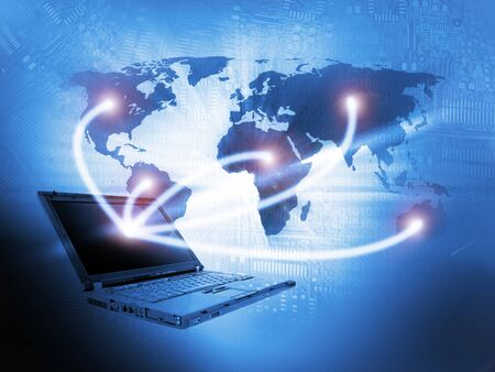 portable information device: Laptop technology background