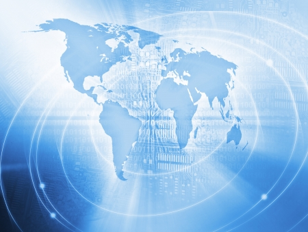 binary globe: World Business Background Stock Photo