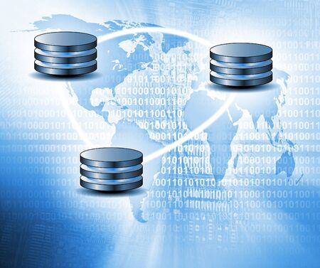 Cloud computing concept - world wide data sharing and communication photo
