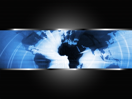 africa continent: World Business Background Stock Photo