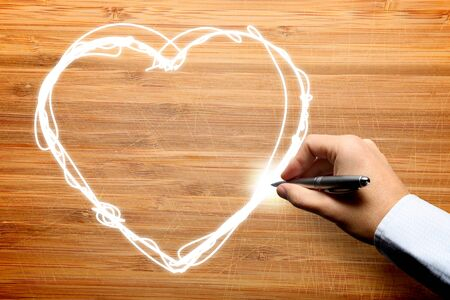 Hand drawing love photo