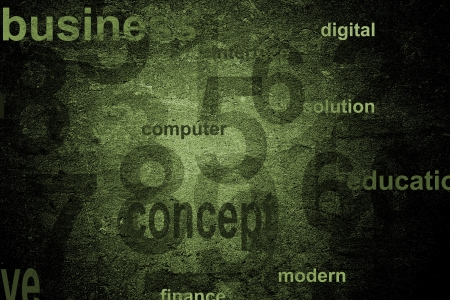 Numbers technology background photo