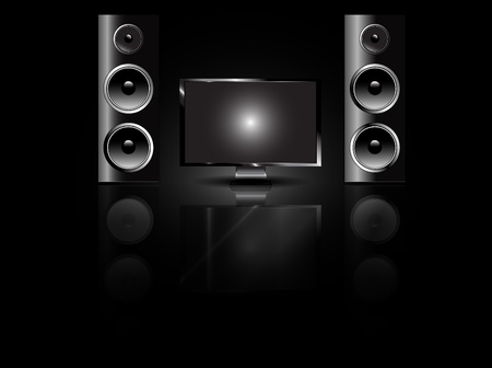 Recording studio speakers Vector