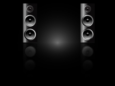 Recording studio speakers Illustration