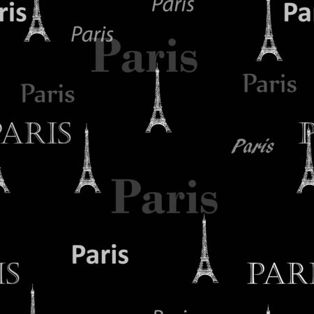 Paris Seamless pattern background photo
