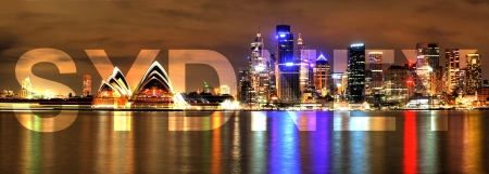 Sydney Harbour with Opera House  photo