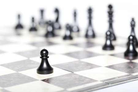 chess figures - strategy and leadership concept Stok Fotoğraf