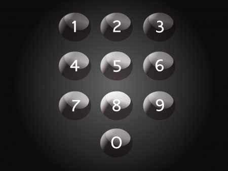 Keypad isolated, numbers Vector