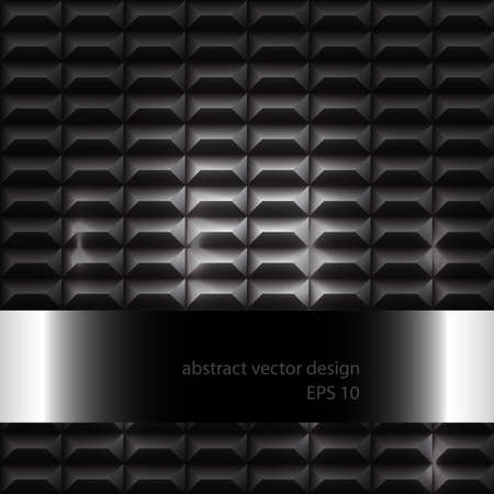 Futuristic Metal 3D Vector Background With Pattern Stock Vector - 17168980